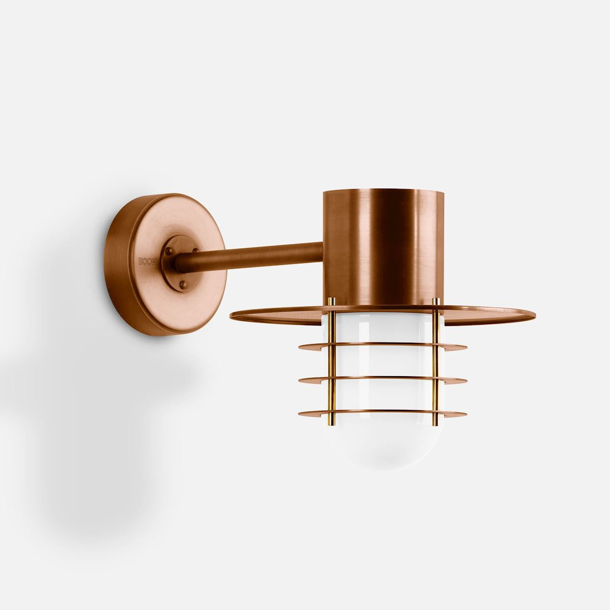 Copper wall luminaire