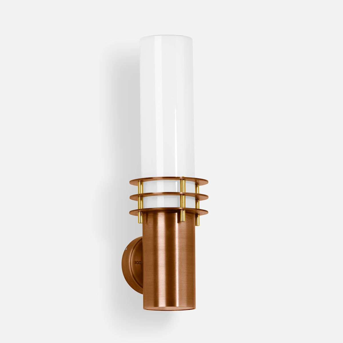 Copper and brass wall luminaire