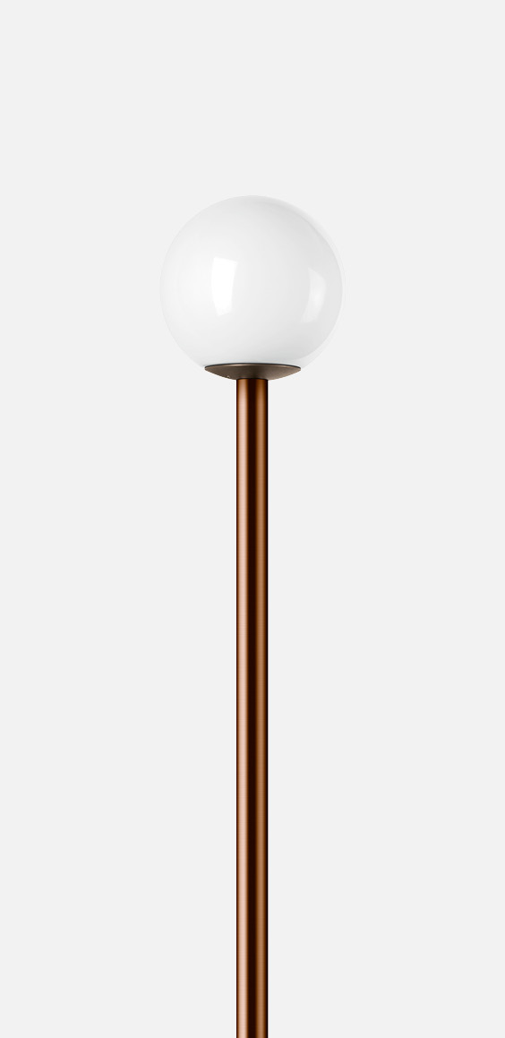 Cast bronze and copper pole-top luminaire