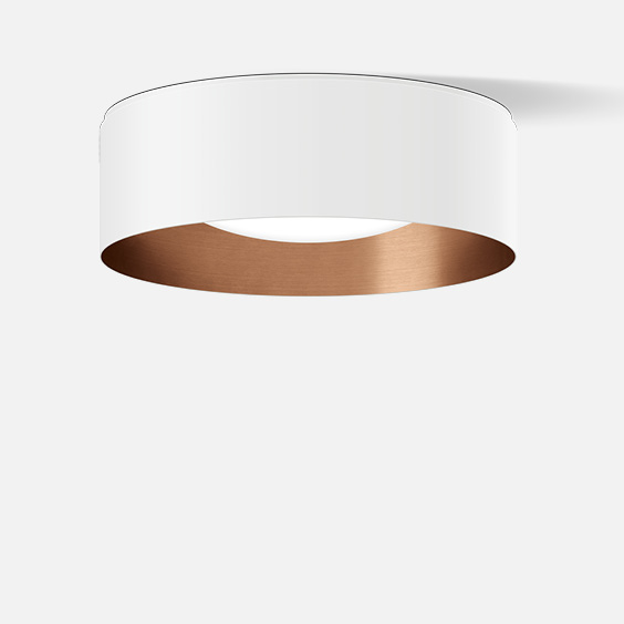 Shielded ceiling luminaire