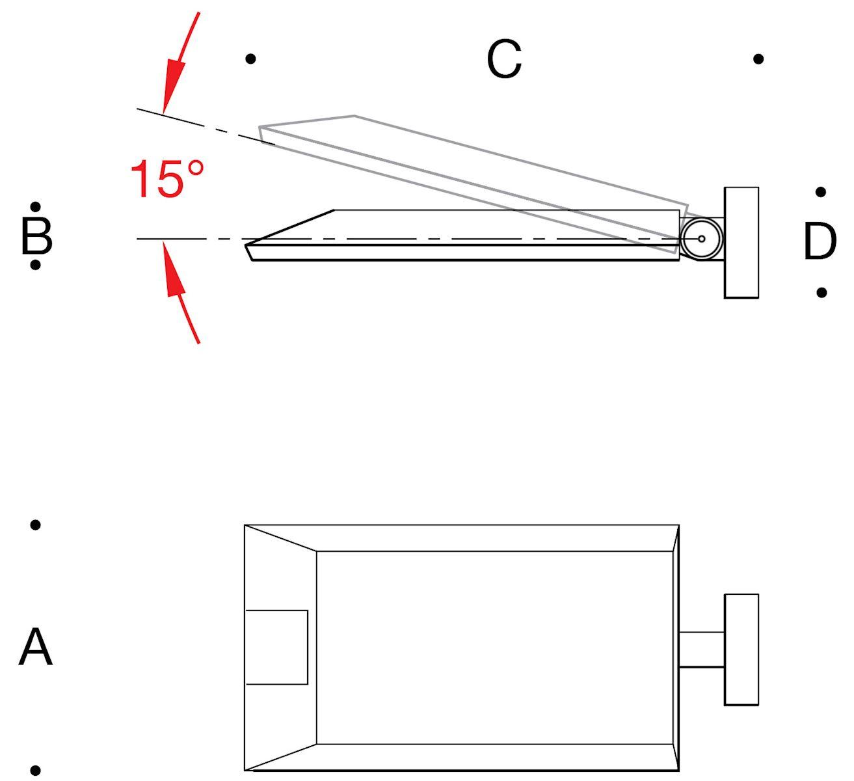 Asymmetric flat beam