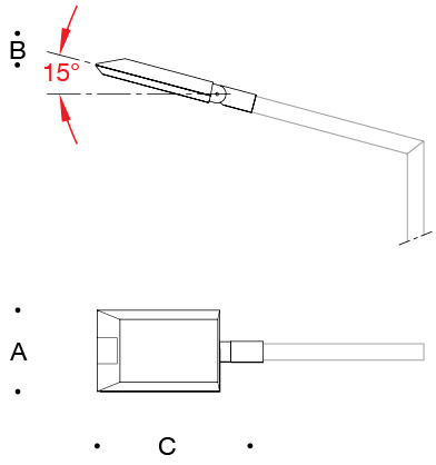 Asymmetric wide beam