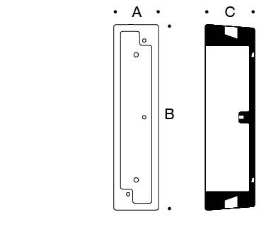 Surface mounted wiring box