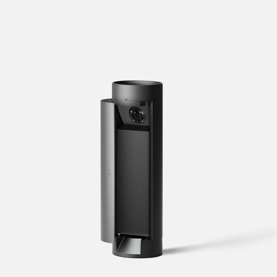 Bollard tube · Integral 240V receptacle