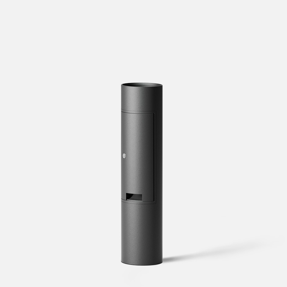 Bollard tube · Integral GFCI outlet