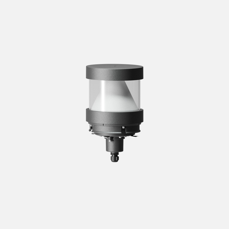 Bollard head · Shielded with reflector · 360°