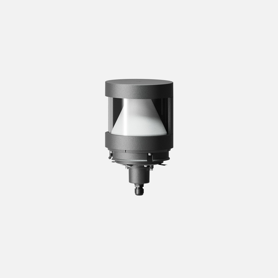 Bollard head · Shielded with reflector · 180°